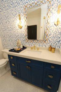 BLUE! blue bathroom